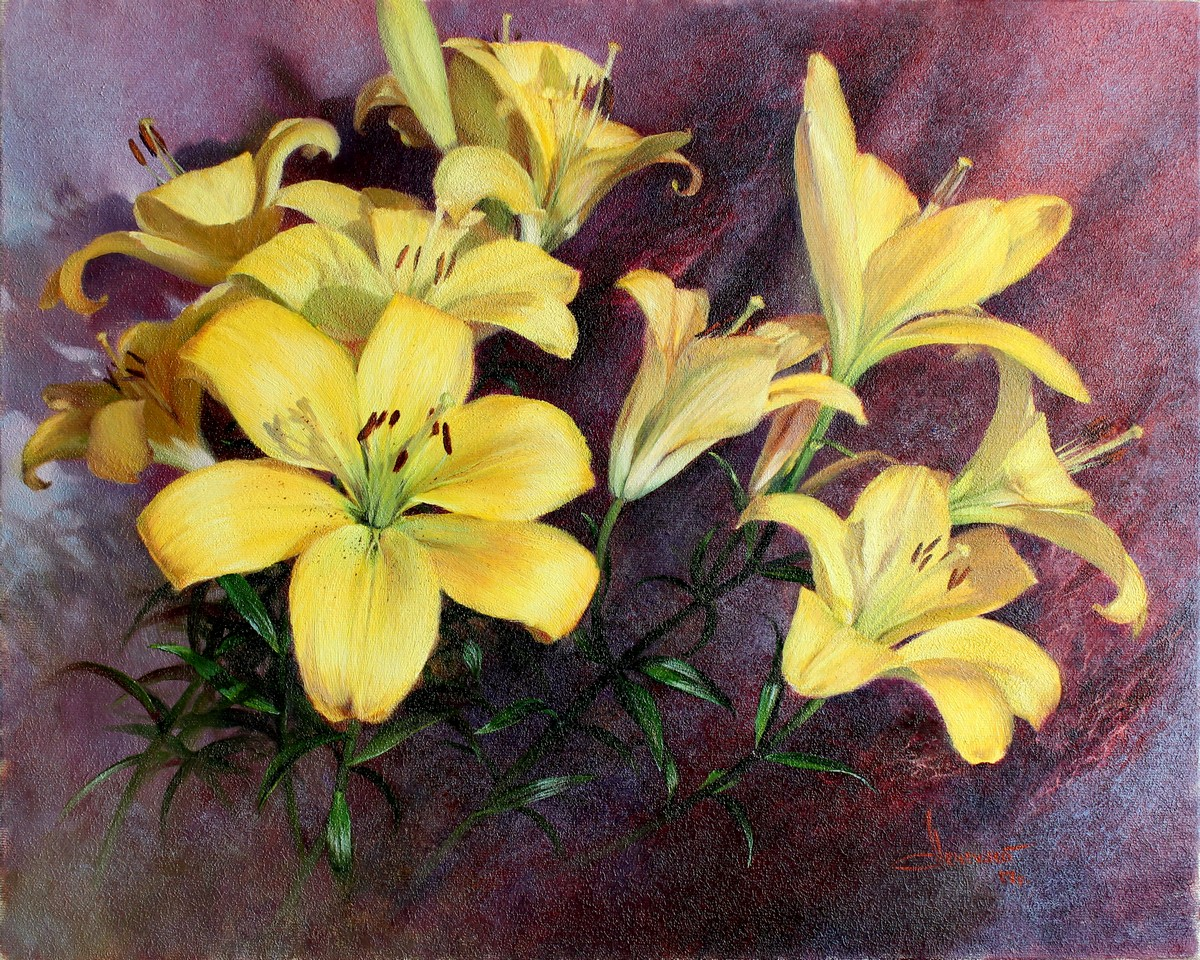 Yellow Lilies Symbol Of Kings